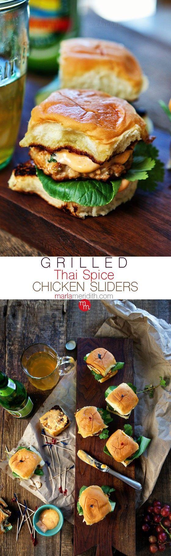 Grilled Thai Spice Chicken Sliders
