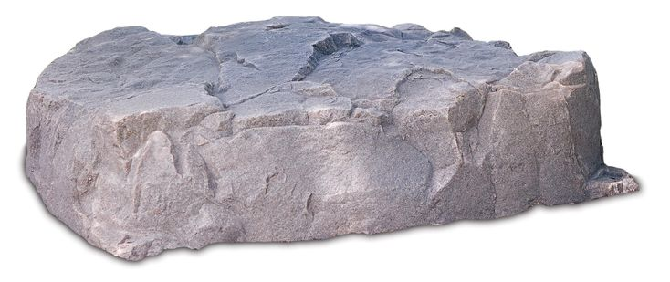 """Riverbed Flat Rock Formation Enclosure 9"""" H x 36"""" W x 36"""" L. This rounded rock formation is only 9 inches high making it a perfect yet subtle disguise for large diameter, low to the ground aesthetic defects including septic lids, grease traps and low profiles manholes."""