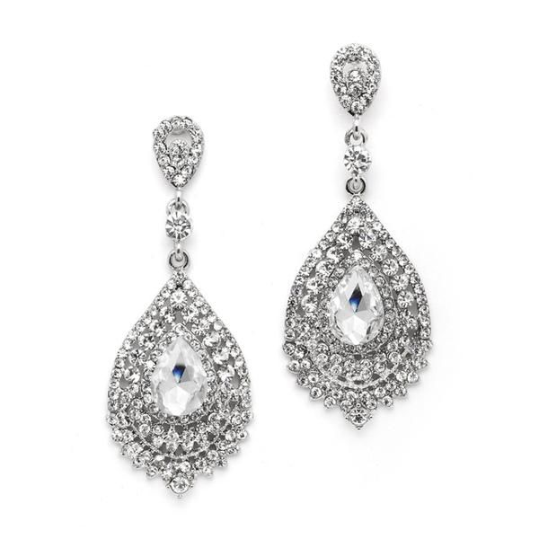 Dramatic Wholesale Crystal Statement Earrings