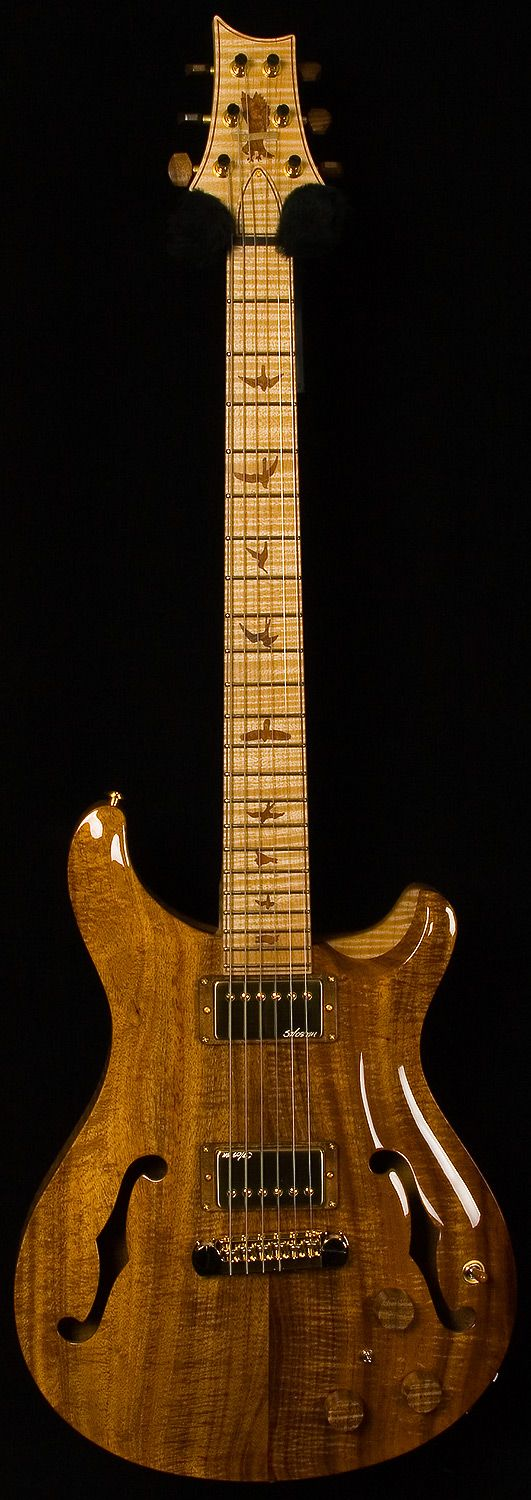 prs - private stock experience - hollowbody II. not sure how I feel about this one. Nice finish on it, though.