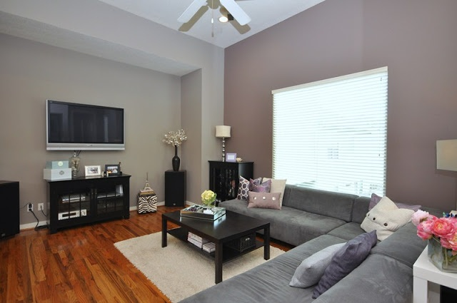 Revere pewter by benjamin moore the accent wall is nice for Benjamin moore smoked oyster paint color