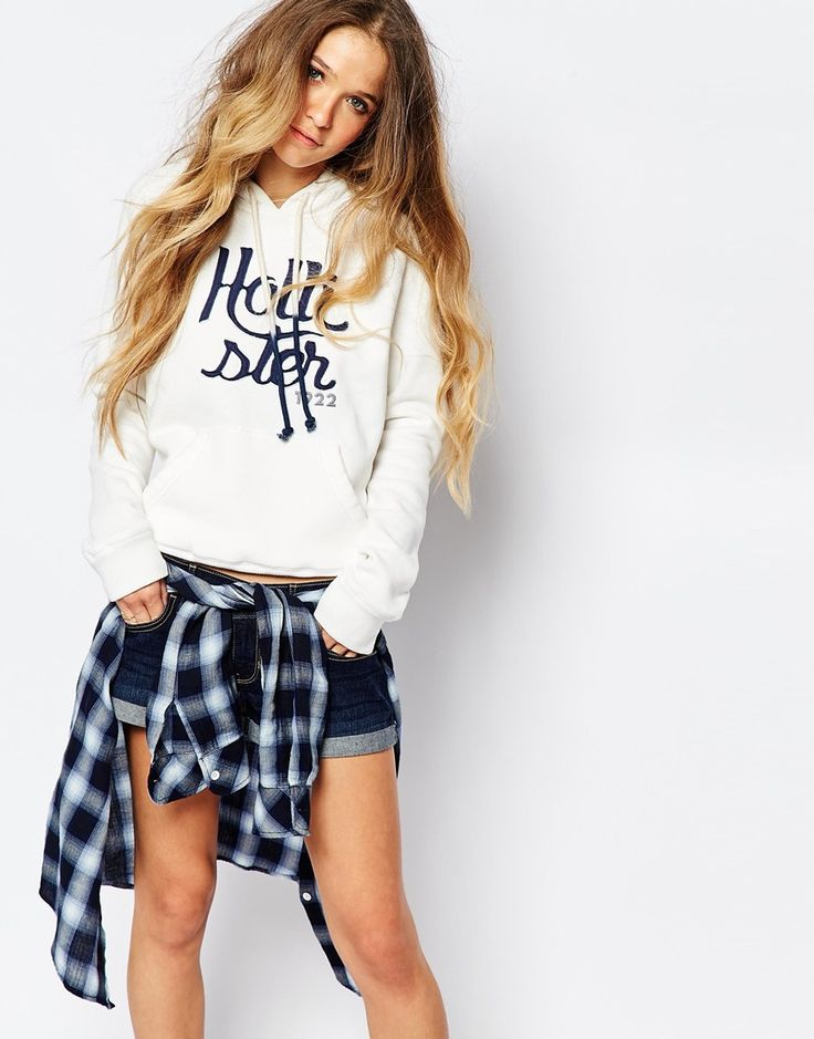 Hollister+Graphic+Logo+Hooded+Sweat