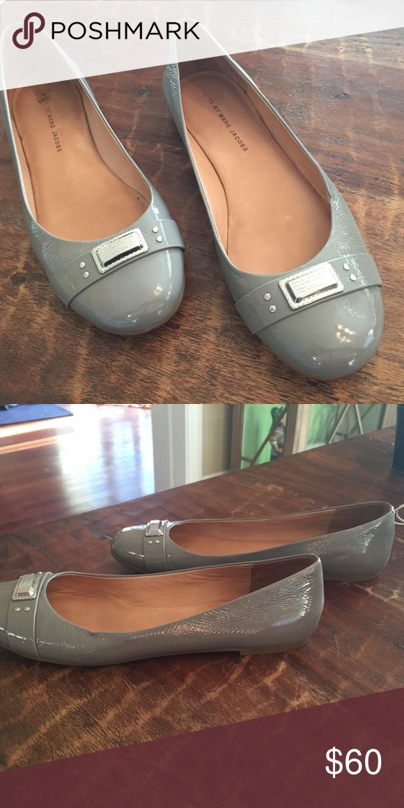 Marc by Marc Jacobs flats Great shape, grey patent flats! Marc by Marc Jacobs Shoes Flats & Loafers