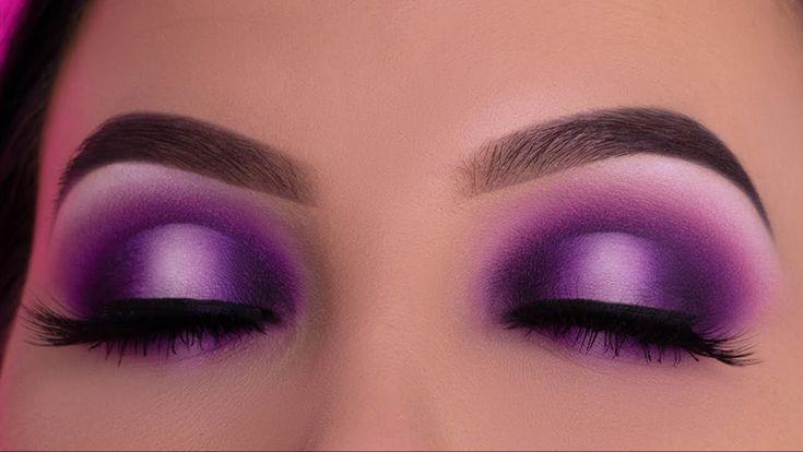 Purple Smokey Halo Eye Look Tutorial - YouTube in 2020 ...