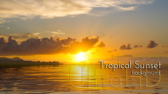 Tropical Sunset Background #tropical #sunset #tranquility #videohive #ultrahd