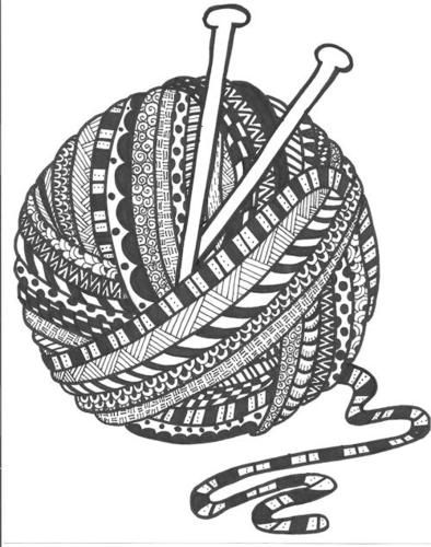 knitting zentangle coloring pages pinterest wool