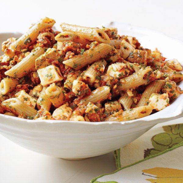 Penne With Tomato Pesto And Smoked Mozzarella Recipe