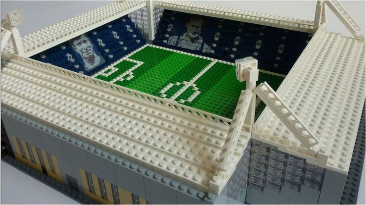 Chris Smith has made Lego versions of stadiums including Manchester Utd's Old Trafford and QPR's Loftus Road.