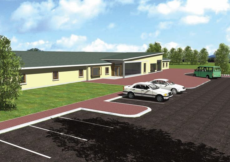 3D rendering of a nursing home done from a image of the location