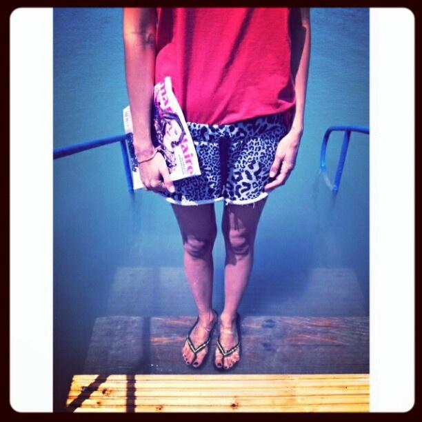 Fashion editor by Lake Balaton