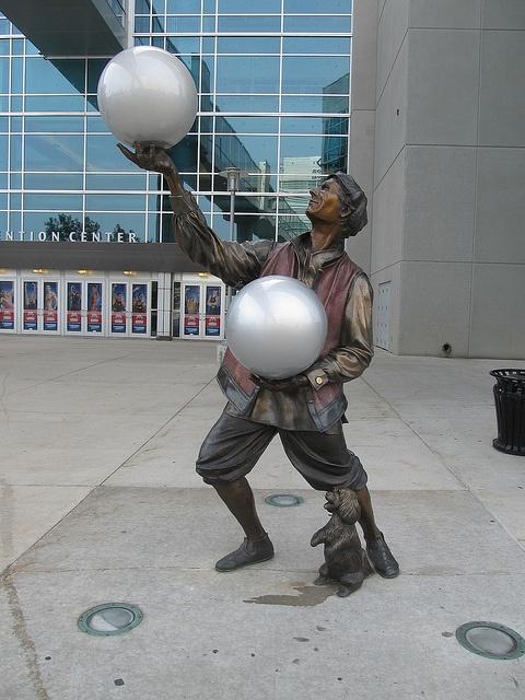 Century Link Center sculpture - Omaha, Nebraska;  photo by FT.M, via Flickr