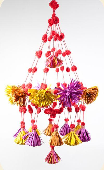 paper pouf chandelier