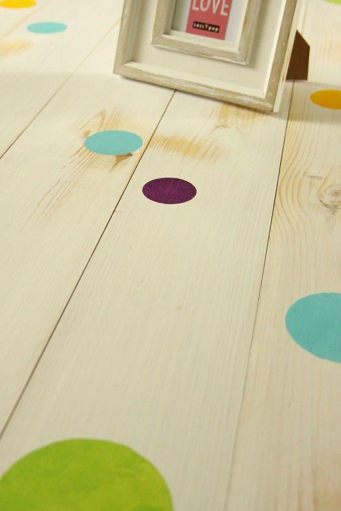 Pöttyös hajópadló nemcsak gyerekszobába!  Home decor - children's room - haind-painted - spotted - wood floor