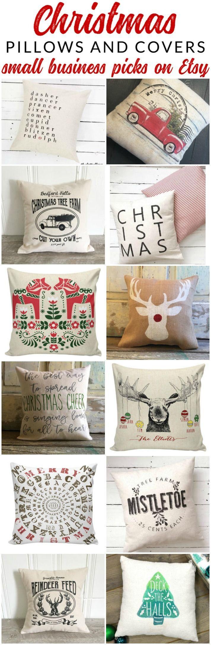 Farmhouse Style Christmas Pillows on Etsy 253