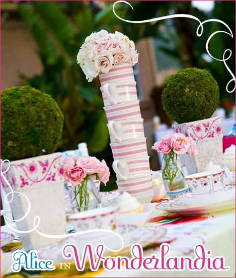 alice in wonderland party: Theme Baby Shower, Wonderland Parties, Teas Cups, Alice In Wonderland, Parties Ideas, Bridal Shower, Teas Parties, Teacup, Baby Shower