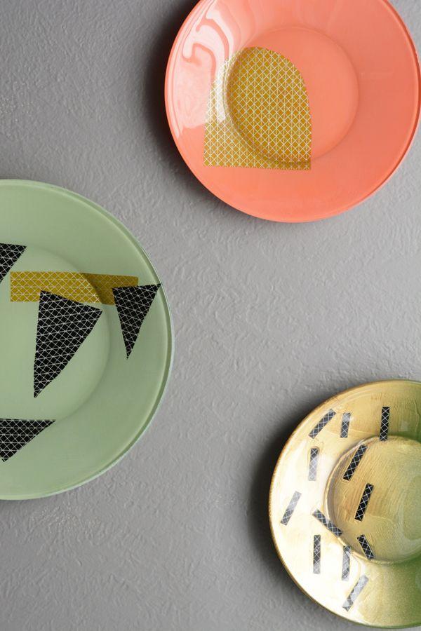 Oleander and Palm: DIY Modern Decorative Plates