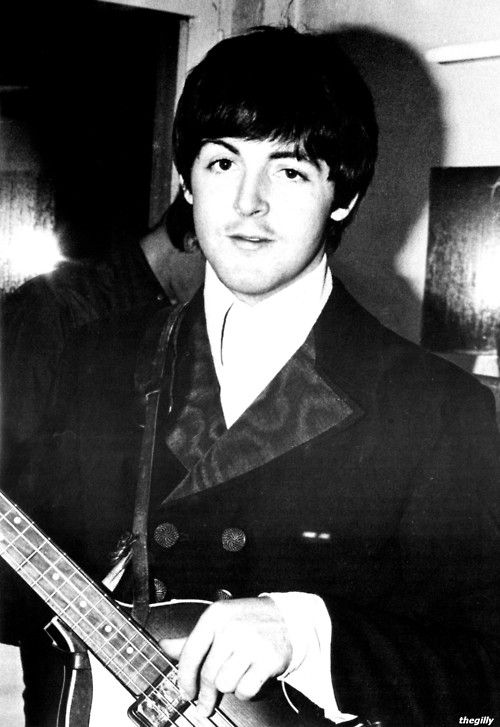 Paul McCartney (backstage in Munich, 24 June 1966. Scan from The Beatles Book Monthly No. 242)