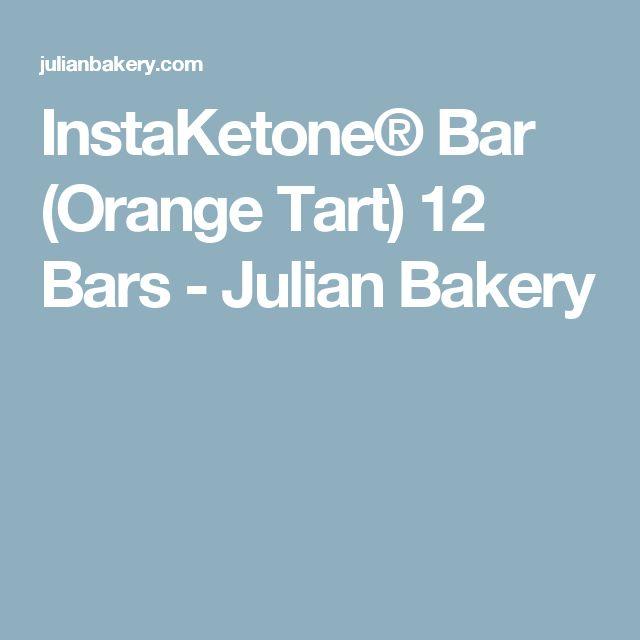 InstaKetone® Bar (Orange Tart) 12 Bars - Julian Bakery