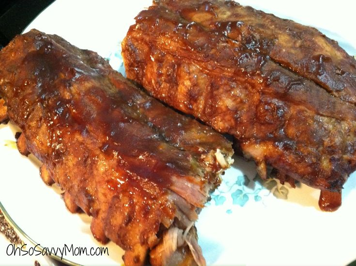 oven baked pork back ribs