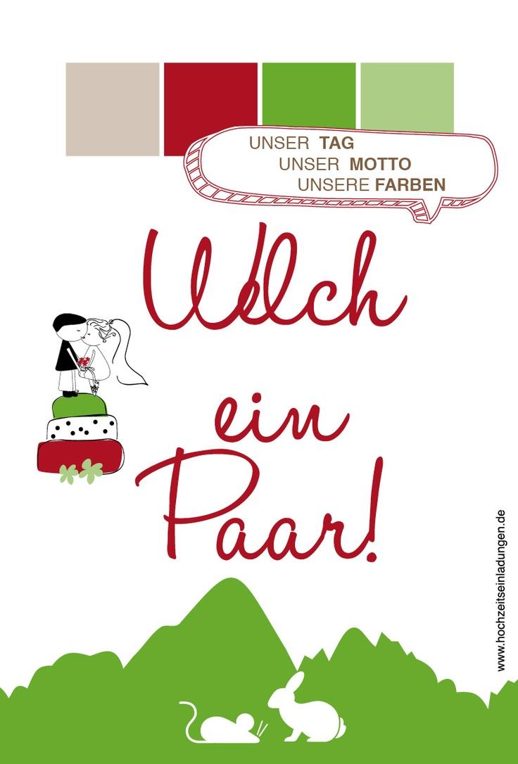 Hasi und Mausi heiraten....  http://www.hochzeitseinladungen.de/hochzeit/kartengalerien/modern-farbenfroh/action/show/card/DEB067/?q=spitznamen