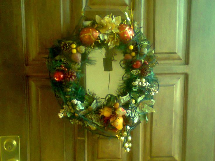 Corona puerta principal