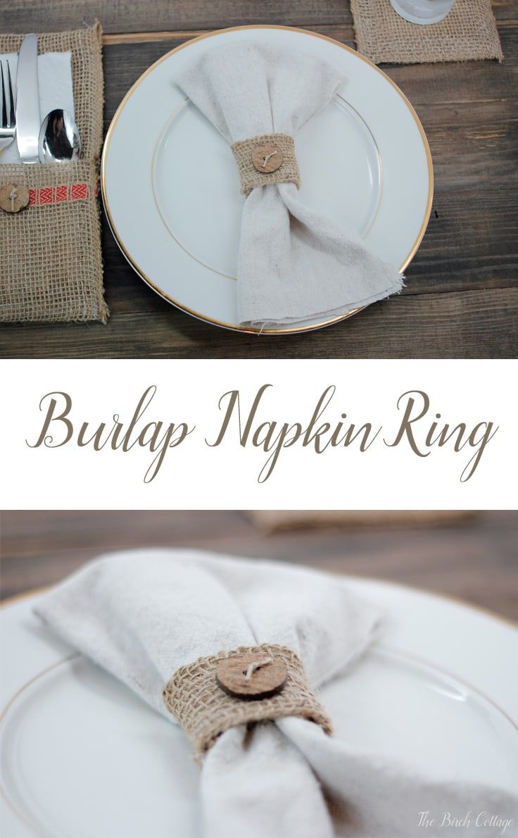 How to Make a Burlap Napkin Ring