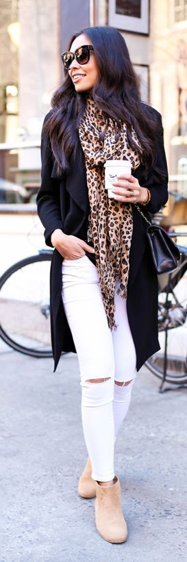 Leopard Scarf Outfit Idea by With Love From Kat: