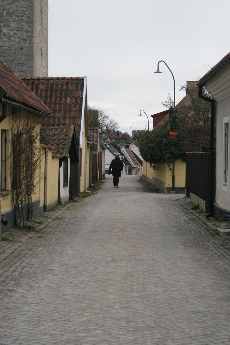 Old Town in Visby, Gotland, Sweden. Back when I was still in school.