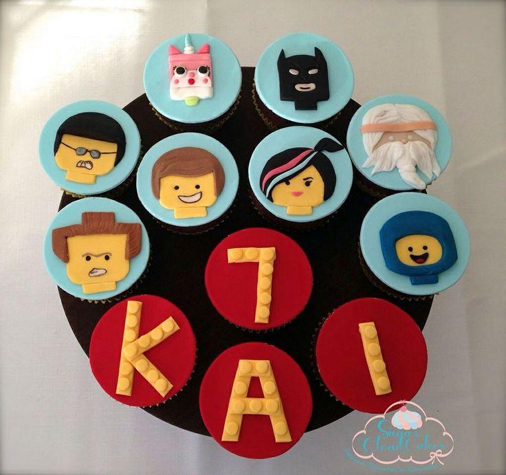 Lego movie cupcakes by http://sugarcloudcakes.com.au