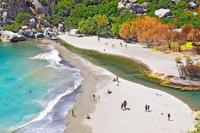 Preveli Beach and River - Crete - Greece