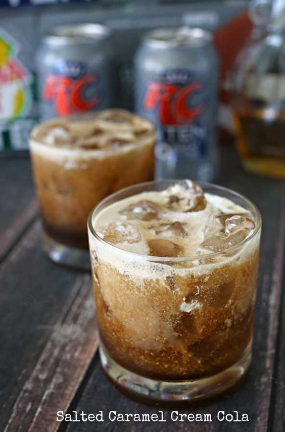Salted Caramel Cream Cola - a delicious drink for all occasions such as birthdays, holidays, parties and game time. on kleinworthco.com #BrighTENtheSeason #ad
