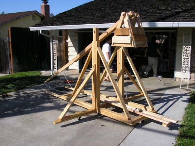 Trebuchet | 7 REALLY Badass Weapons You Can Make At Home