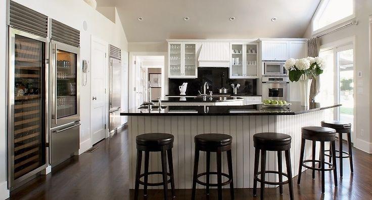 Keuken met veel lichtinval - Wit & zwart