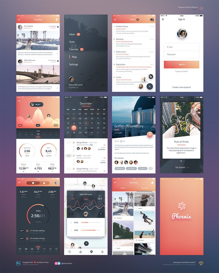 <p>Download iPhone 6 iOS Application UI Kit Free PSD. A free iOS UI kit containing 12 beautifully designed screens for your upcoming mobile app project. This iPhone 6 iOS Application UI Kit Free PSD will help you create amazing designs…</p>