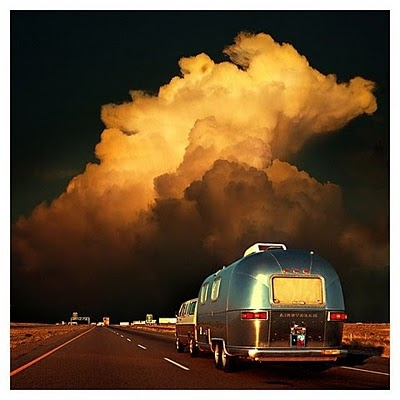 Airstream: The Roads, Warm Colors, Open Roads, Cloud, Camps Trailers, Storms, Airstream Dreams, Roads Trips, Airstream Trailers