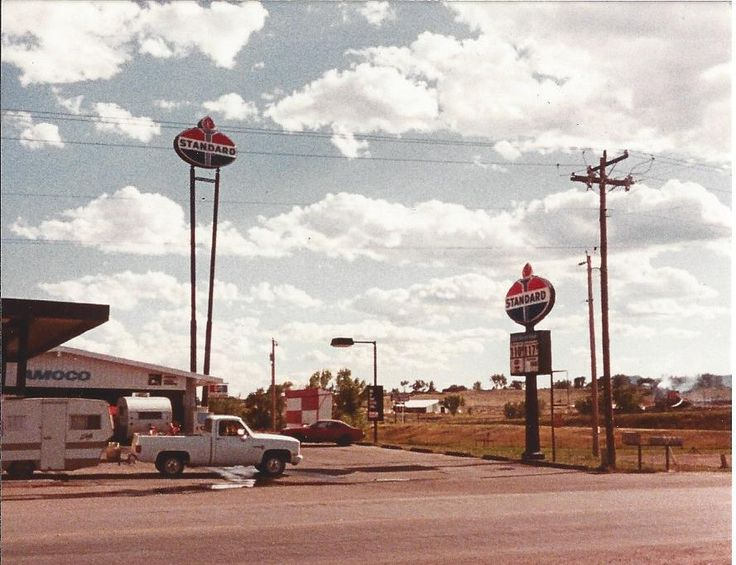 An Amoco gas station from somewhere in Wyoming in 1984 ...