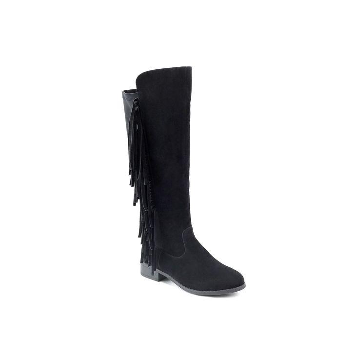Olivia Miller Corona Women's Knee High Boots, Teens, Size: 7.5, Black