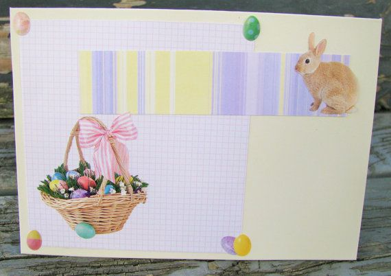 Easter Rabbit handmade card FWB easter card by RogueKissedCraft