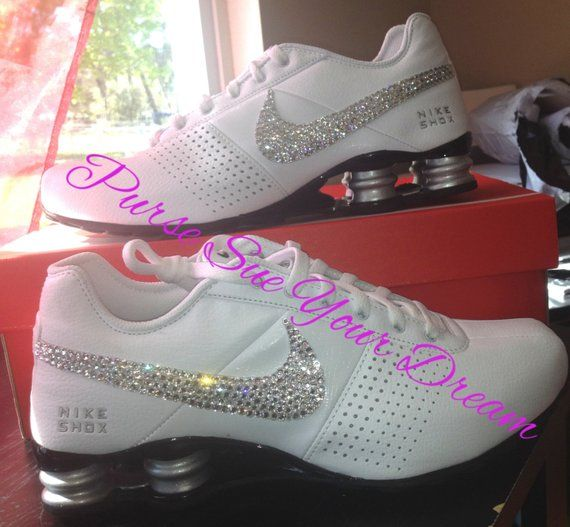 bd0a7c853f65 Custom Nike Shox Designed Shoes - Swarovski Crystal Designs - Made To Order  -- Advertising Listing O