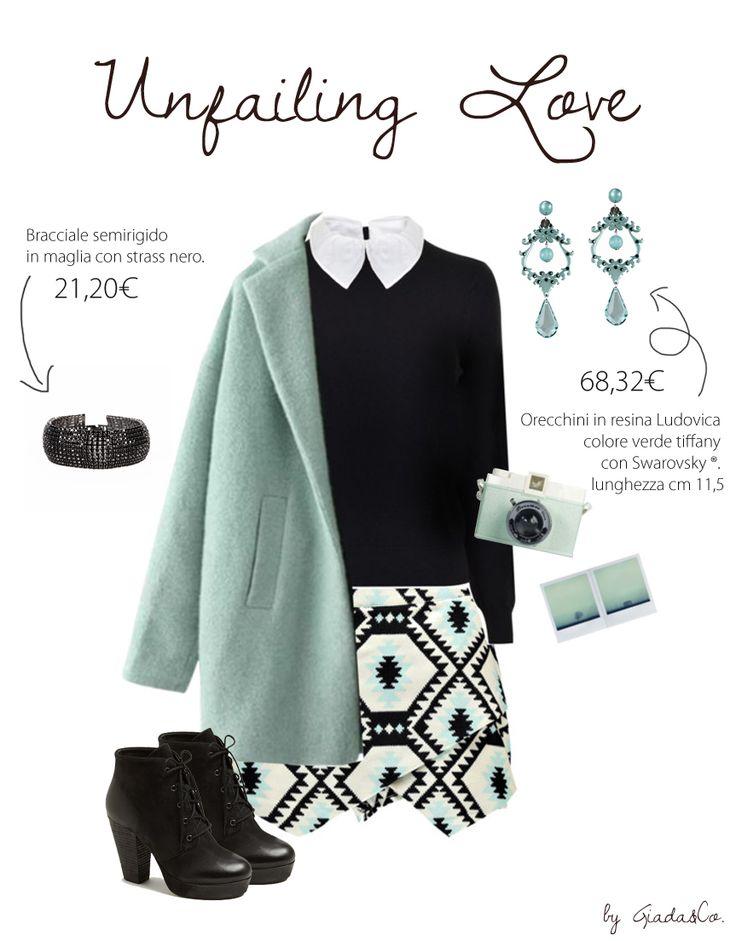 Unfailing love! http://www.giadaandco.com/bracciali/bracciale-semirigido-maglia-strass-nero http://www.giadaandco.com/designer-collection/pepitosa/orecchini-ludovica-verde-tiffany-swarovsky #Bijoux #Adorabe #earrings #bracelet #Pepitosa