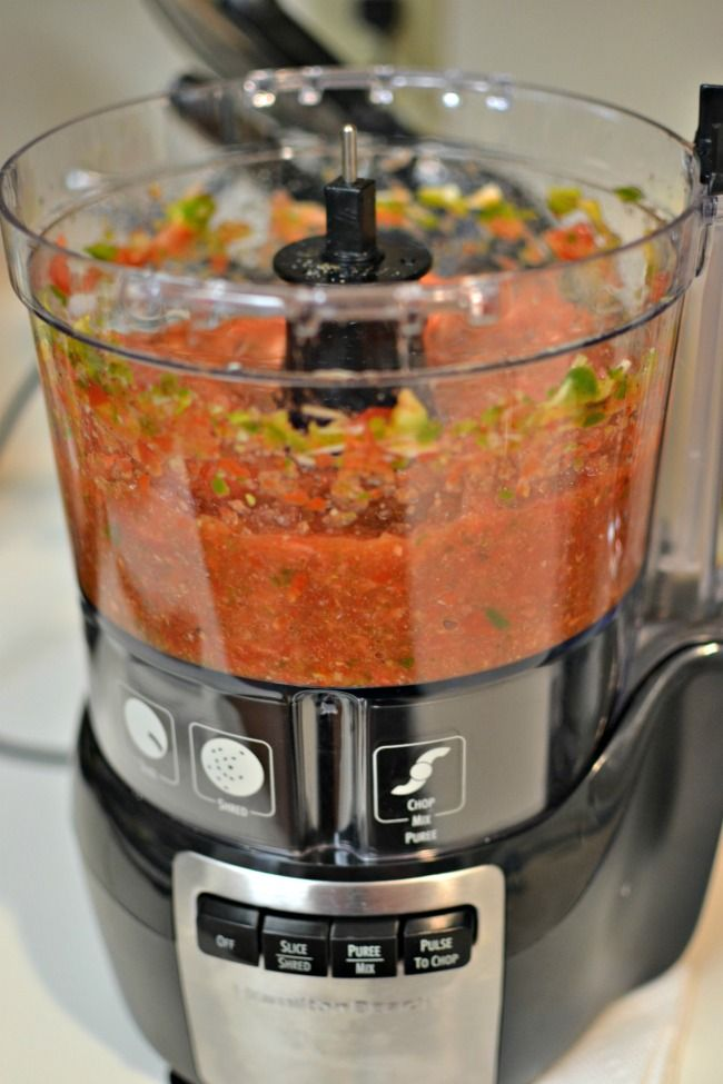 Restaurant Style Salsa: Hamilton Beach Stack & Snap Food Processor