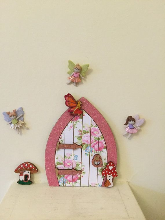 Wooden Fairy doors childrens gift by Munchkinmaker22 on Etsy