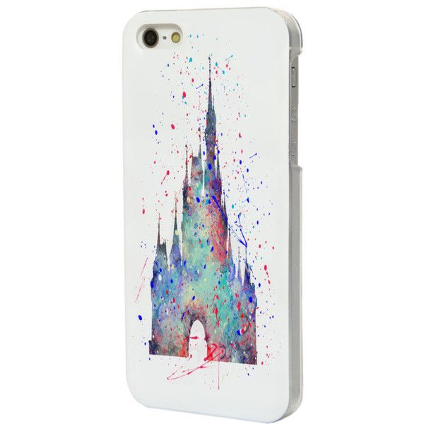 Disney's Cinderella Castle Phone Case for Galaxy S3/S4/S5/S6 and... (£4.55) ❤ liked on Polyvore featuring accessories, tech accessories and disney