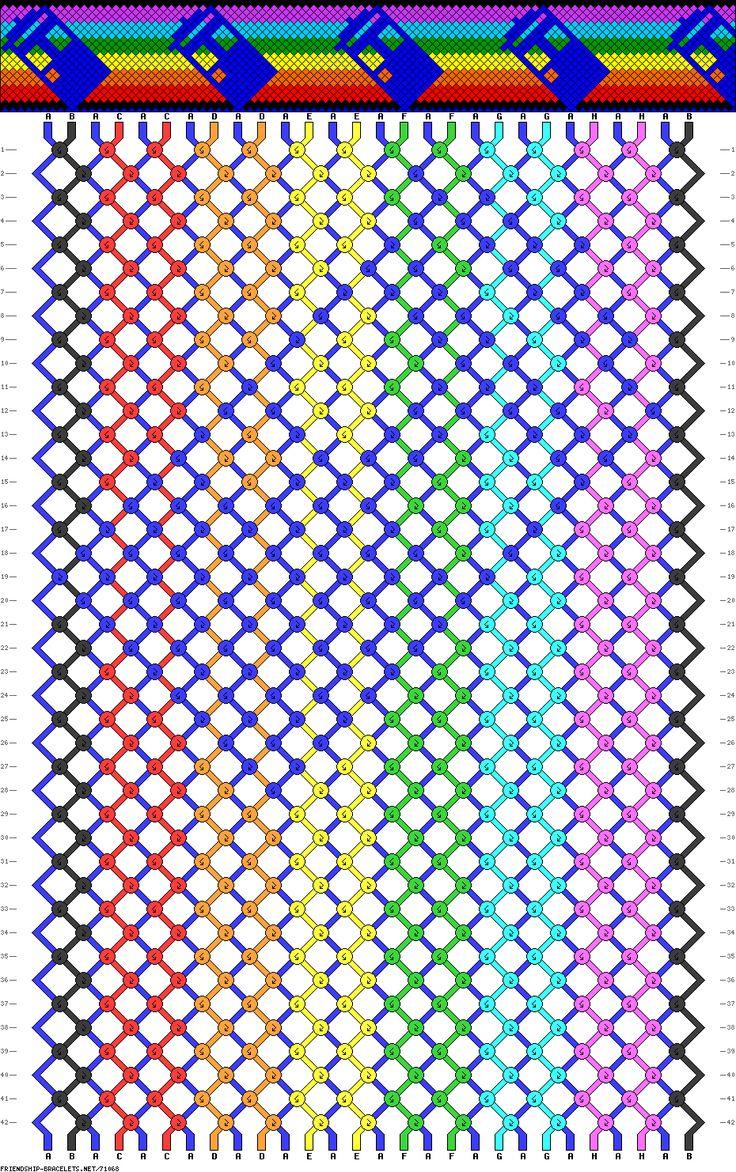 Tardis Friendship Bracelet Pattern