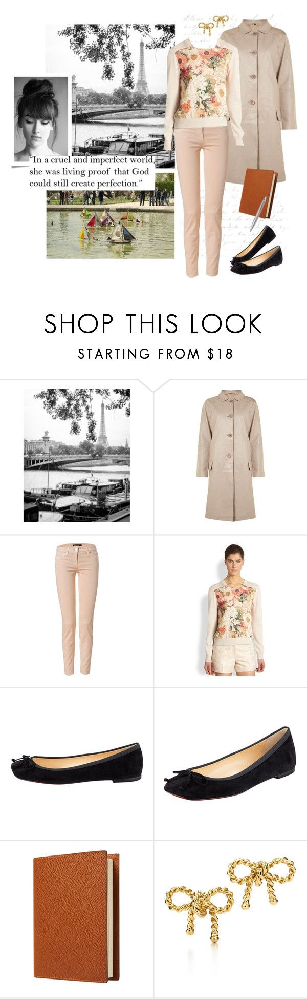 """Paris Floral Jumper #1"" by prettyannamoon ❤ liked on Polyvore featuring WALL, Betty Jackson, Roberto Cavalli, Tory Burch, Christian Louboutin, Pinetti and Tiffany & Co."