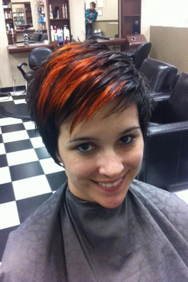 16 best images about Orange ombre on dark hair on ...