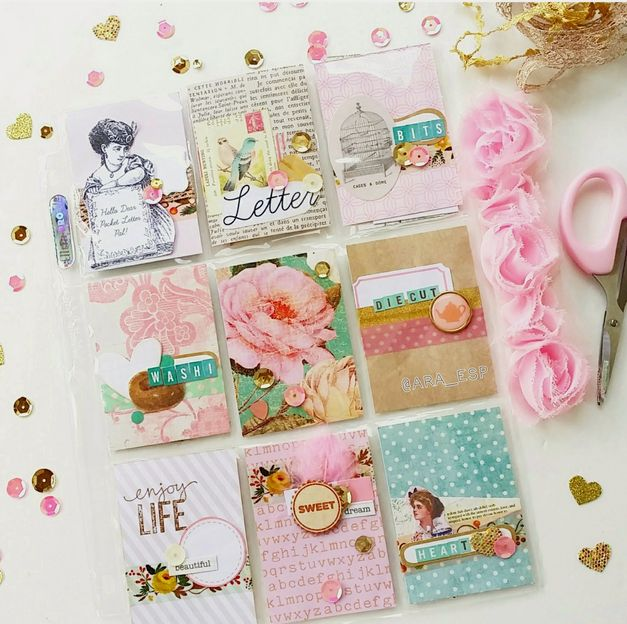 Shabby Chic Pocket Letter created by The Paper Treasury http://papertreasury.blogspot.com/2015 ...