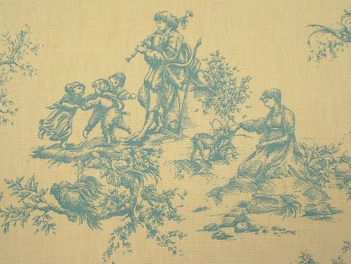 French toile de jouy 100 cotton designer upholstery for Toile shabby chic