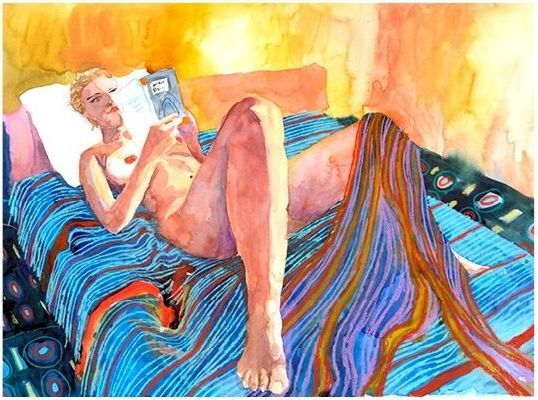 Mujer leyendo by Marcus Goldson. Ⓜ
