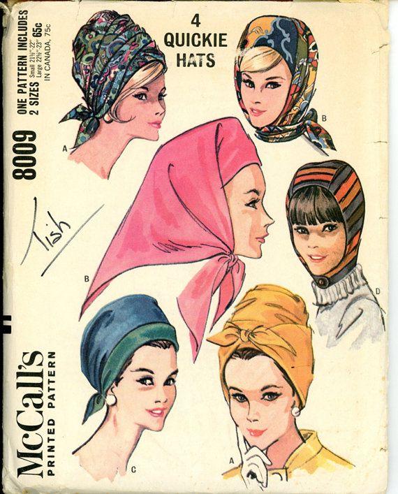 1960s Hats Pattern McCalls 8009 Misses Wrap Turban by CynicalGirl, #millinery #turban #judithm